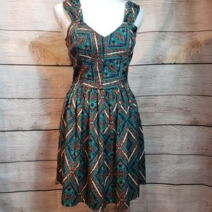 Band of Gypsies colorful dress with open back